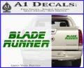 Blade Runner Decal Sticker Title Green Vinyl 120x97