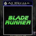Blade Runner Decal Sticker Title Lime Green Vinyl 120x120