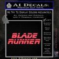 Blade Runner Decal Sticker Title Pink Vinyl Emblem 120x120