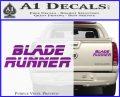 Blade Runner Decal Sticker Title Purple Vinyl 120x97