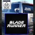 Blade Runner Decal Sticker Title White Vinyl Emblem 120x120