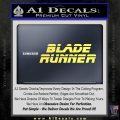 Blade Runner Decal Sticker Title Yellow Vinyl 120x120