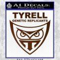 Blade Runner Decal Sticker Tyrel Corp Brown Vinyl 120x120