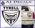Blade Runner Decal Sticker Tyrel Corp Carbon Fiber Black 120x97