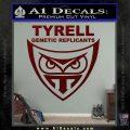 Blade Runner Decal Sticker Tyrel Corp Dark Red Vinyl 120x120