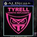 Blade Runner Decal Sticker Tyrel Corp Hot Pink Vinyl 120x120