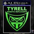 Blade Runner Decal Sticker Tyrel Corp Lime Green Vinyl 120x120