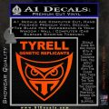 Blade Runner Decal Sticker Tyrel Corp Orange Vinyl Emblem 120x120