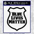 Blue Lives Matter Police Badge Decal Sticker Black Vinyl Logo Emblem 120x120