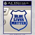 Blue Lives Matter Police Badge Decal Sticker Blue Vinyl 120x120