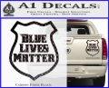 Blue Lives Matter Police Badge Decal Sticker Carbon Fiber Black 120x97