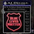 Blue Lives Matter Police Badge Decal Sticker Pink Vinyl Emblem 120x120