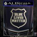 Blue Lives Matter Police Badge Decal Sticker Silver Vinyl 120x120