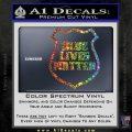 Blue Lives Matter Police Badge Decal Sticker Sparkle Glitter Vinyl Sparkle Glitter 120x120