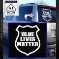 Blue Lives Matter Police Badge Decal Sticker White Vinyl Emblem 120x120