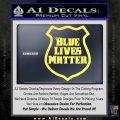 Blue Lives Matter Police Badge Decal Sticker Yellow Vinyl 120x120