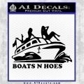 Boats N Hoes Decal Sticker D7 Black Vinyl Logo Emblem 120x120