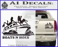 Boats N Hoes Decal Sticker D7 Carbon Fiber Black 120x97