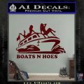Boats N Hoes Decal Sticker D7 Dark Red Vinyl 120x120