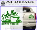 Boats N Hoes Decal Sticker D7 Green Vinyl 120x97