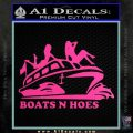 Boats N Hoes Decal Sticker D7 Hot Pink Vinyl 120x120