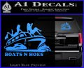 Boats N Hoes Decal Sticker D7 Light Blue Vinyl 120x97
