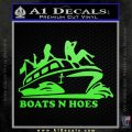 Boats N Hoes Decal Sticker D7 Lime Green Vinyl 120x120
