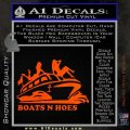 Boats N Hoes Decal Sticker D7 Orange Vinyl Emblem 120x120
