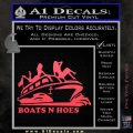 Boats N Hoes Decal Sticker D7 Pink Vinyl Emblem 120x120