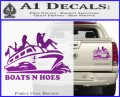 Boats N Hoes Decal Sticker D7 Purple Vinyl 120x97