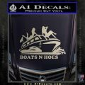 Boats N Hoes Decal Sticker D7 Silver Vinyl 120x120