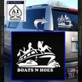 Boats N Hoes Decal Sticker D7 White Vinyl Emblem 120x120