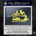 Boats N Hoes Decal Sticker D7 Yellow Vinyl 120x120