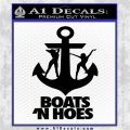 Boats N Hoes Decal Sticker D8 Black Vinyl Logo Emblem 120x120