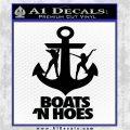 Boats N Hoes Decal Sticker D8 Black Vinyl Logo Emblem 120x120