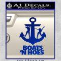 Boats N Hoes Decal Sticker D8 Blue Vinyl 120x120