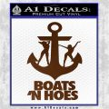 Boats N Hoes Decal Sticker D8 Brown Vinyl 120x120