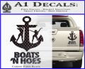 Boats N Hoes Decal Sticker D8 Carbon Fiber Black 120x97