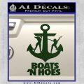 Boats N Hoes Decal Sticker D8 Dark Green Vinyl 120x120