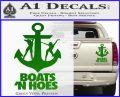 Boats N Hoes Decal Sticker D8 Green Vinyl 120x97