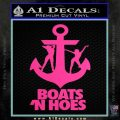 Boats N Hoes Decal Sticker D8 Hot Pink Vinyl 120x120
