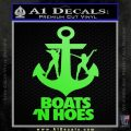 Boats N Hoes Decal Sticker D8 Lime Green Vinyl 120x120