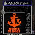 Boats N Hoes Decal Sticker D8 Orange Vinyl Emblem 120x120