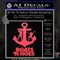 Boats N Hoes Decal Sticker D8 Pink Vinyl Emblem 120x120