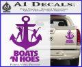 Boats N Hoes Decal Sticker D8 Purple Vinyl 120x97
