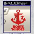 Boats N Hoes Decal Sticker D8 Red Vinyl 120x120