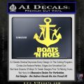 Boats N Hoes Decal Sticker D8 Yellow Vinyl 120x120