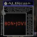 Bon Jovi Decal Sticker Text Orange Vinyl Emblem 120x120
