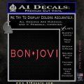 Bon Jovi Decal Sticker Text Pink Vinyl Emblem 120x120