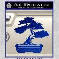 Bonsai Tree Decal Sticker D2 Blue Vinyl 120x120